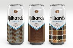 Hilliard's: A Retro-Cool Beer Brand That Embraces Good Graphic Design | Co.Design: business + innovation + design #packaging #color #minimal