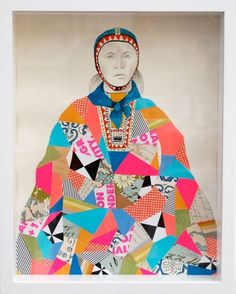 Lisa Congdon : Mixed Media #woman #color #geometric #illustration #portrait #collage