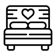 See more icon inspiration related to bed, bedroom, sleep, room, rest, furniture and household, beds, furniture and buildings on Flaticon.