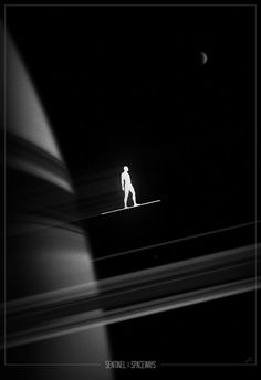 Silver Surfer Noir poster by Marko Manev #movie #white #black #and