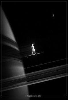 Silver Surfer Noir poster by Marko Manev