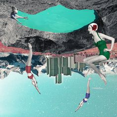 Collage, Retrofuturism, Surreal