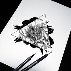 ANDREY SVETOV – love #flower #tattoo #ink #line