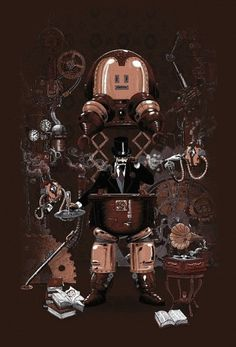 Steampunk characters #illustrations