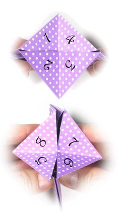 How to make an origami fortune teller II (http://www.origami-make.org/howto-origami-fortune-teller.php)