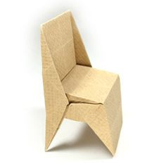 How to make an origami chair with triangular legs (http://www.origami-make.org/howto-origami-chair.php)