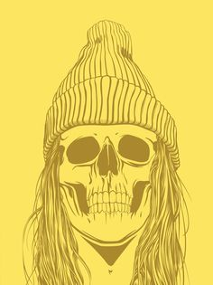 Skull Girls (pt.1) on the Behance Network #illustration #yellow #skull