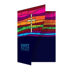 Stained Glass Church Guest Packet Folder Template #church #illustrator #glass #template #ai #christian #stained #folder