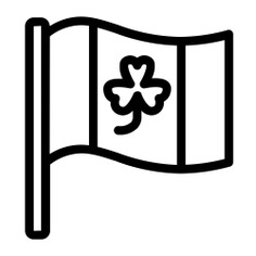 See more icon inspiration related to flag, clover, st patrick, cultures, Saint Patrick, shamrock, country, nation, flags, ireland and world on Flaticon.