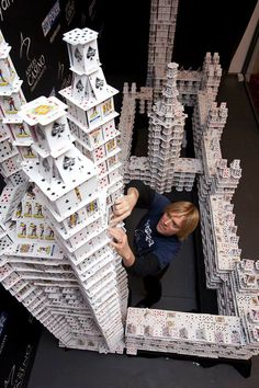 CJWHO ™ (Bryan Berg, a Cardstacker Bryan Berg was...) #insane #design #berg #photography #cardstacker #cards #bryan