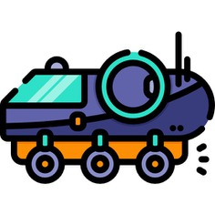 See more icon inspiration related to moon rover, transportation, automobile, science, nature, vehicle and transport on Flaticon.