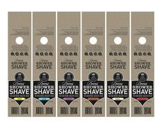 Dave's Shower Shave #packaging #print