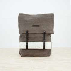 Newspaper Rucksack in Brown thisispaper