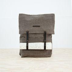 Newspaper Rucksack in Brown thisispaper #backpack #rucksack #newspaper #thisispaper