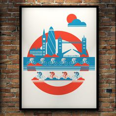 Many Hands — London Cycling by Neil Stevens #screen #illustration #print #poster
