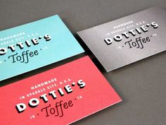 Dottie's Toffee Business Cards #dotties #cards #toffee #business