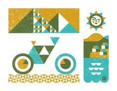 geometric illustration #illustration #geometric Build things with mountains and peaks