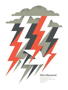 Glen Hansard - Doublenaut #gig #poster