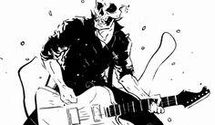 tumblr_lxwrja3kDc1qjco10o1_1280.jpg (1280×745) #guitar #tosheff #illustration #stefan #skull #death
