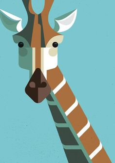 Retro Modern African Mammal Illustrations My Modern Metropolis #illustration #animal #geometric