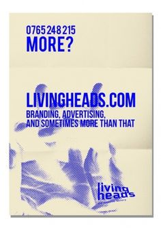 » Livingheads /Visual Identity visualinvolved #branding #id #corporate #poster #livingheads