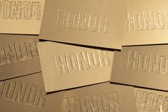 Honor #fashion #deboss #gold #invite #honor #hightide #hightidecreative #goldfoil