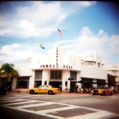 Infamous Deli © Adele Jancovici 2015 Color print on paper #miami #Photography #art #palmtree #color #colorsplash #sky #blue #car City
