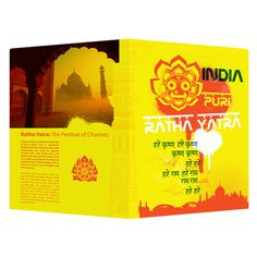 Ratha Yatra India Presentation Folder Template (Front and Back View) #template #india #illustrator #ai