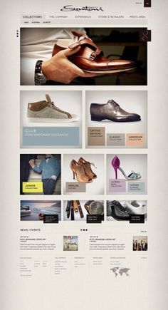 Santoni on the Behance Network #website