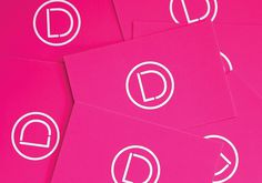 Laura Dossett Professional Make-up Artist #branding #design #graphic #magenta #logo