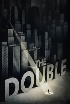 The Double - Poster Art by Warren Holder #illustration #poster #film #black and white #city #text #double #spotlight