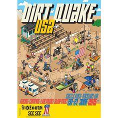 Dirt Quake USA 2015 Poster by Sideburn and See See Motorcycles #moto