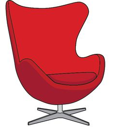 Arne Jacobsen - Egg Chair - #illustration #interiordesign