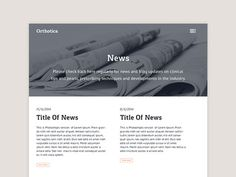 News Page #news #button #website #grid #blog #layout #web #typography