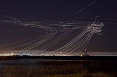 Long exposure aircraft | HOW TO BE A RETRONAUT #night #long #photography #exposure