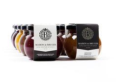 Maison de Bruges - Logo, branding & packaging by www.chilli.be #jam #branding #bottle #packaging #food #glass #handmade #logo