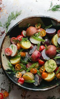 Potato Salad with Dill + Horseradish Aioli #salad #food