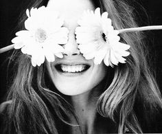 basicwonder #white #black #and #cute #flowers