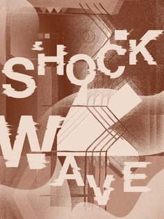Shockwave, poster submitted and designed by Matt Chinworth for his 365-day typography journal Ty ...