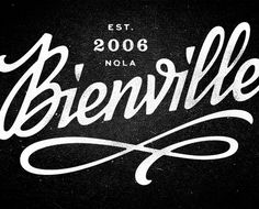 Eight Hour Day » Bienville Identity #type #script #logo