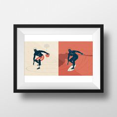 Surfing Magazine — Illustration - Joy Stain #surf #ball #court #board #noa #wave #basketball #illustration #stain #joy #beach #emberson