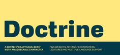 Doctrine #fonts