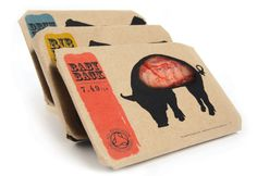 Butcher's by Kei Meguro at Coroflot.com #packaging #meat