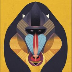 Monkey Illustration by Dieter Braun #illustration #animal #monkey #iconic #geometric