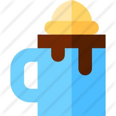 See more icon inspiration related to hot chocolate, food and restaurant, dessert, bakery, chocolate, mug, hot, ice cream, cold and sweet on Flaticon.