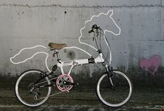 designpiration #white #bicycle #pink #ornament #shape #horsey