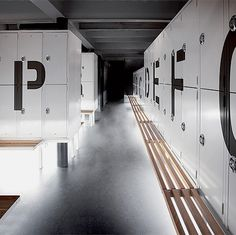 Locker room at iainclaridge.net #design #typography