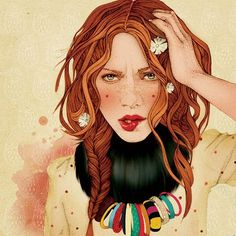 Ã‹lodie, french illustrator - Commissions - #fashion #illustration