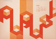 Hard to Read Calendar - 2010 on Typography Served #calendar #geometric #typography