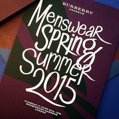 Burberry's Script Typeface Livens Up Their SS15 Collection #fashion #invite #lettering #script